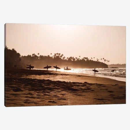 Morning At The Beach Canvas Print #FSC22} by Florian Schleinig Canvas Art Print