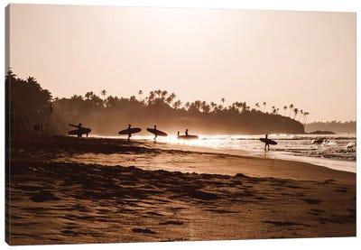 Morning At The Beach Canvas Art Print
