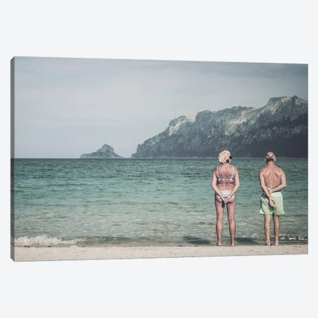 Old Couple At The Beach Canvas Print #FSC24} by Florian Schleinig Canvas Wall Art