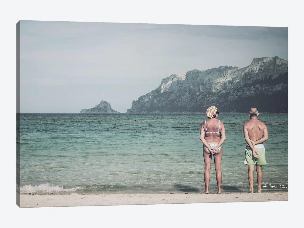 Old Couple At The Beach by Florian Schleinig 1-piece Canvas Artwork