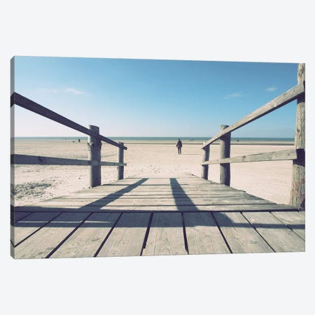 Path To The Beach Canvas Print #FSC28} by Florian Schleinig Art Print