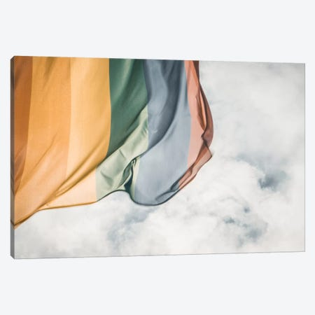 Rainbow Flag Canvas Print #FSC31} by Florian Schleinig Canvas Artwork
