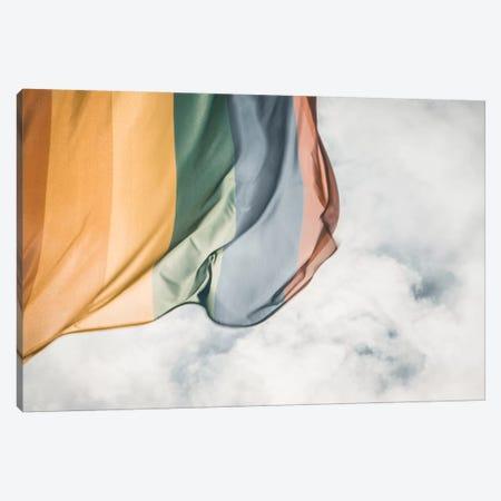 Rainbow Flag Canvas Print #FSC31} by Florian Schleinig Canvas Artwork