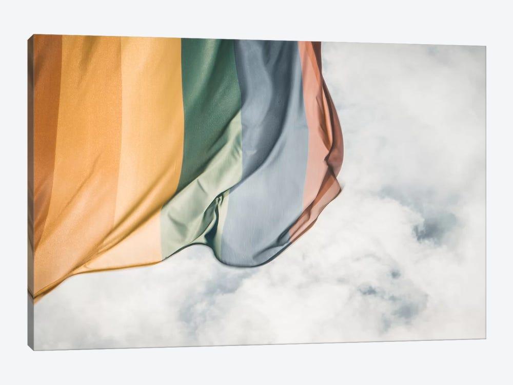 Rainbow Flag by Florian Schleinig 1-piece Canvas Wall Art