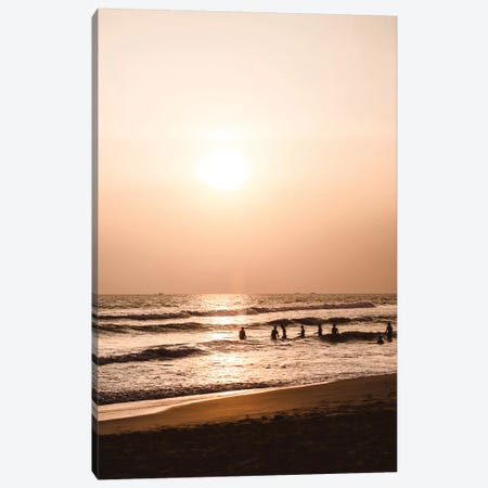 Sunset At The Beach I Canvas Print #FSC43} by Florian Schleinig Canvas Art Print