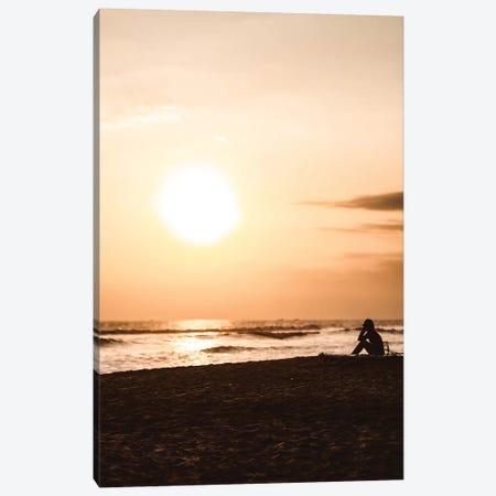 Sunset At The Beach II Canvas Print #FSC44} by Florian Schleinig Canvas Wall Art