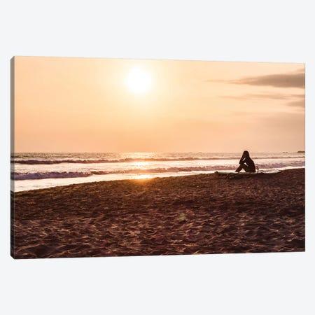 Sunset At The Beach III Canvas Print #FSC45} by Florian Schleinig Canvas Artwork