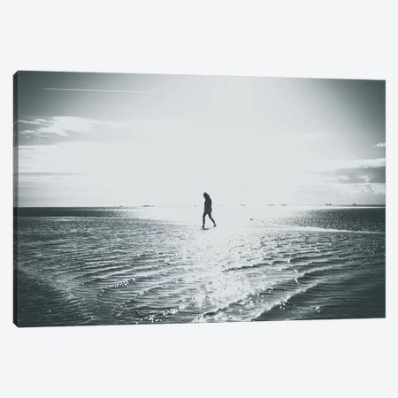 Walking People At The Beach Canvas Print #FSC49} by Florian Schleinig Art Print
