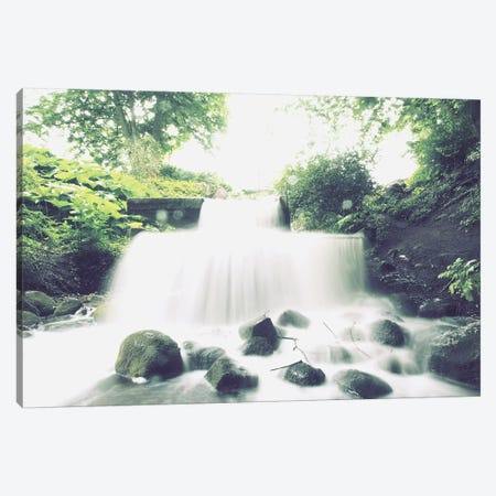 Waterfall In Park Canvas Print #FSC51} by Florian Schleinig Canvas Artwork
