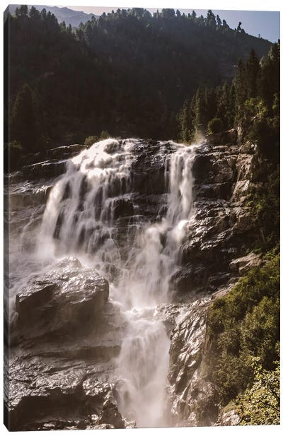 Waterfall, Stubai Valley, Austria, I Canvas Art Print
