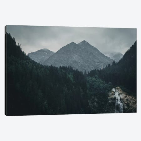 Waterfall, Stubai Valley, Austria, II Canvas Print #FSC53} by Florian Schleinig Canvas Art