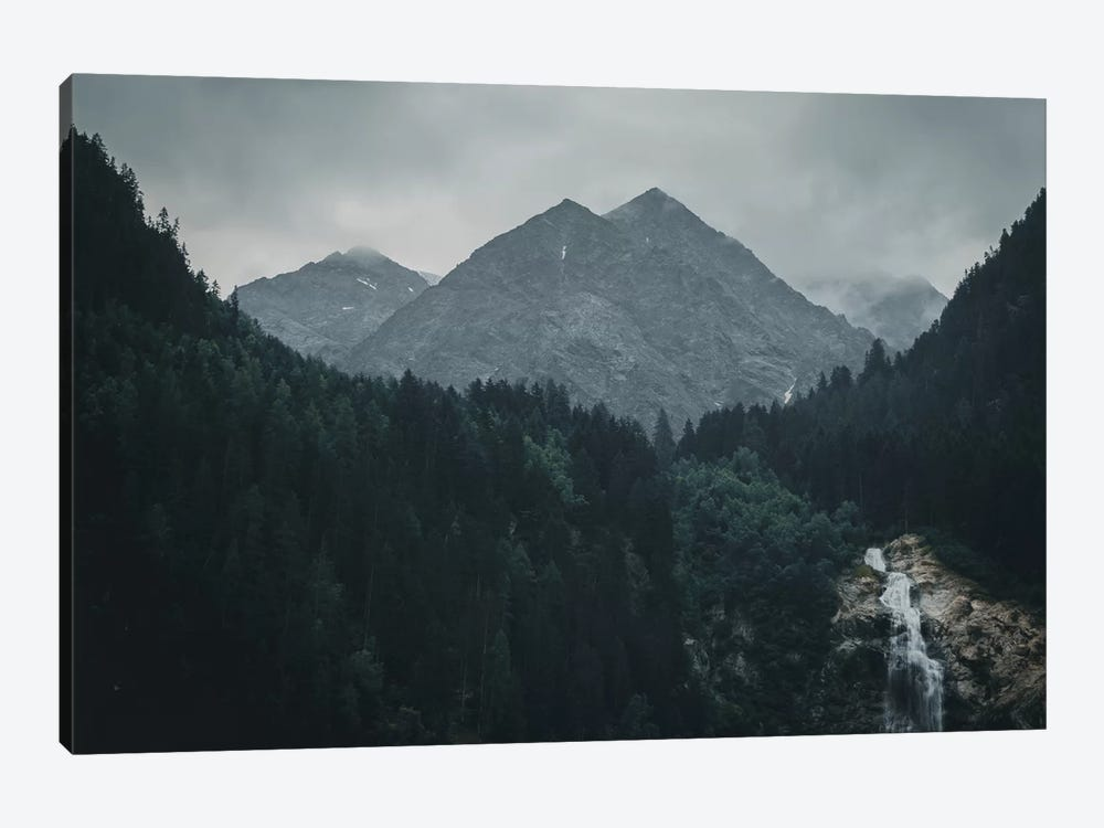 Waterfall, Stubai Valley, Austria, II by Florian Schleinig 1-piece Canvas Artwork