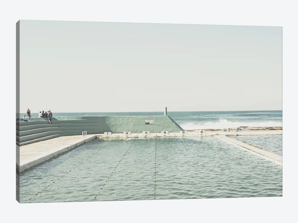 Beach Of Newcastle, Australia, I by Florian Schleinig 1-piece Canvas Art Print