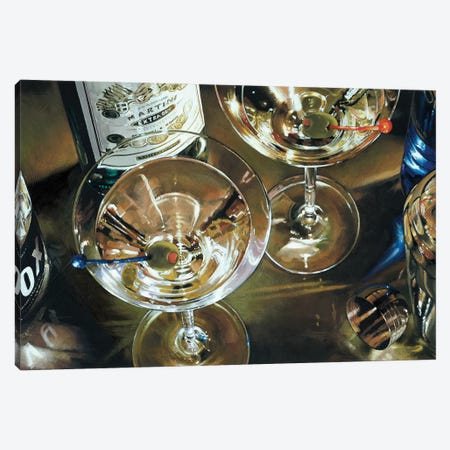 Martini Bar 3-Piece Canvas #FSF13} by Stefano Ferreri Art Print
