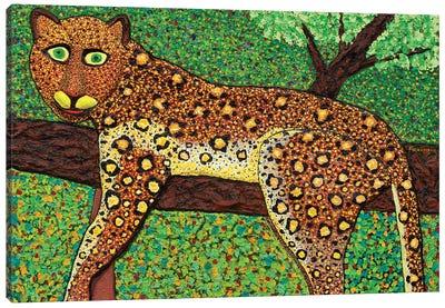 Happy Leopard Canvas Art Print