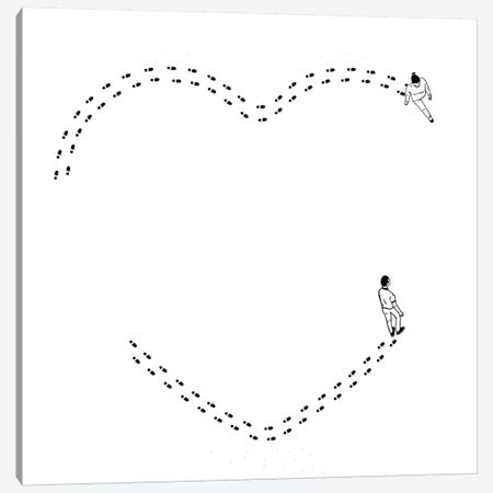 Love Is A Succession Of Common Steps Canvas Print #FSP41} by Filippo Spinelli Canvas Wall Art