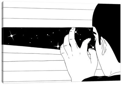 Spying On The Stars Canvas Art Print
