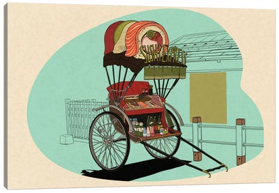 Sushi Express Canvas Print #FTS10