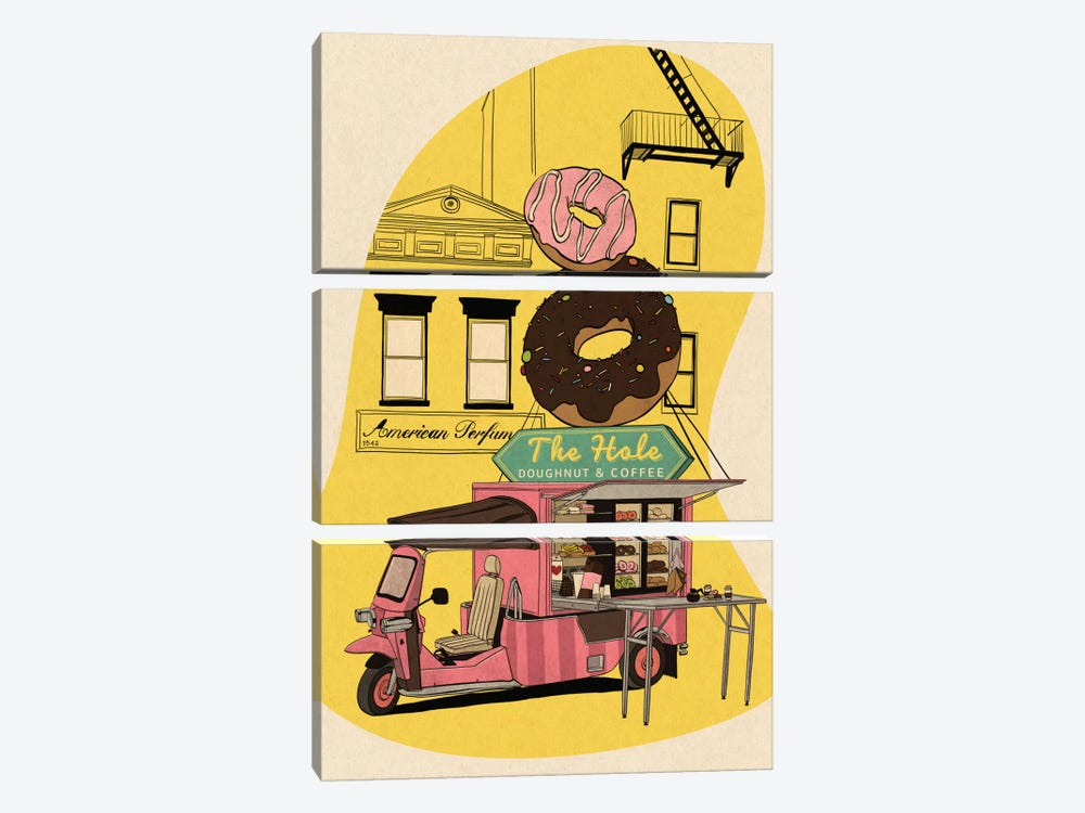 The Hole by 5by5collective 3-piece Art Print
