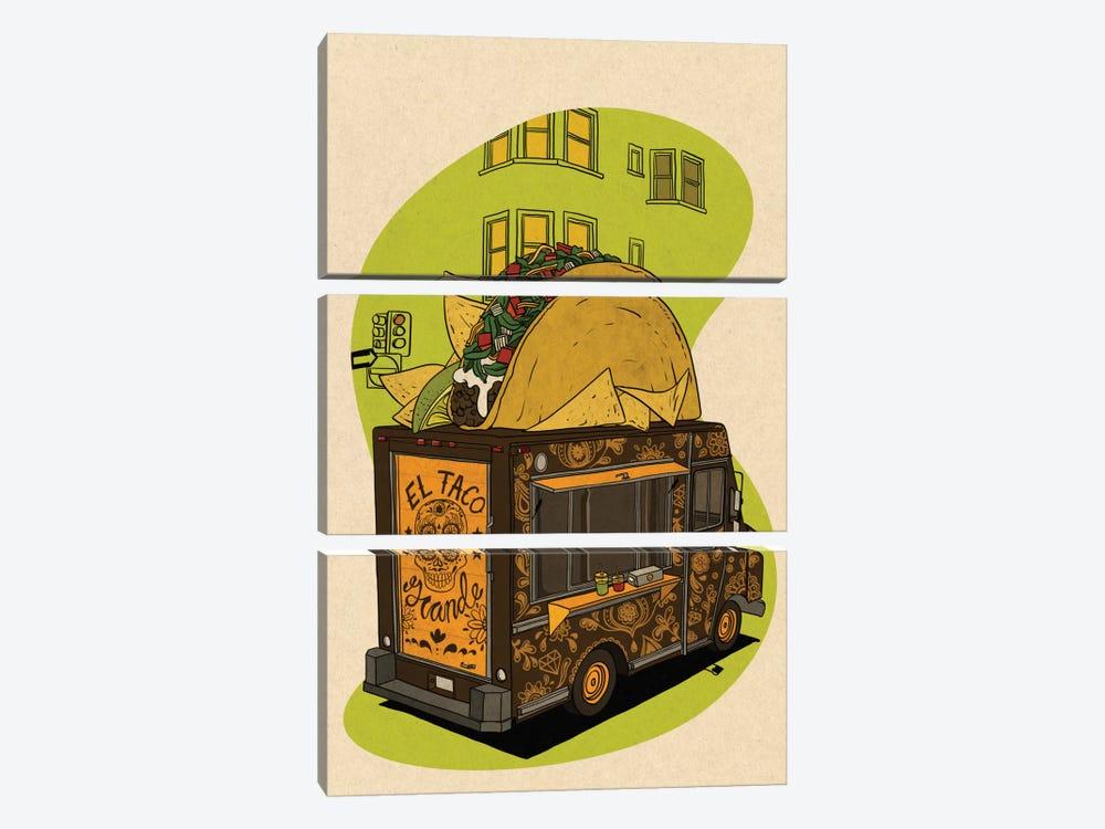 El Taco Grande by 5by5collective 3-piece Art Print