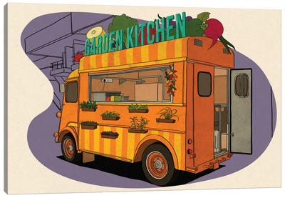 Garden Kitchen Canvas Print #FTS4