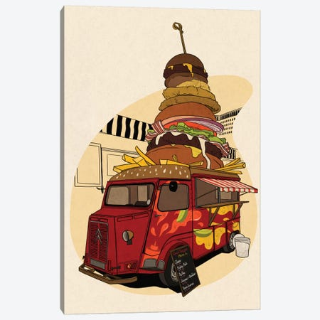 Good Burger Canvas Print #FTS5} by 5by5collective Canvas Art