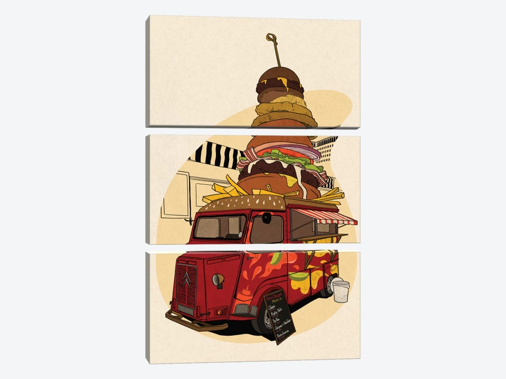 Good Burger by 5by5collective 3-piece Art Print