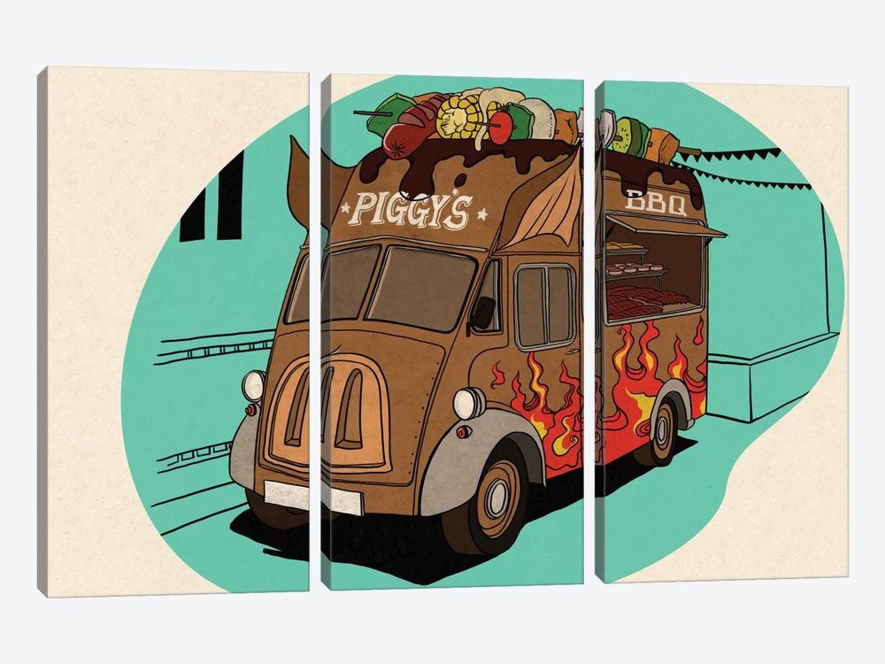Piggy's by 5by5collective 3-piece Art Print