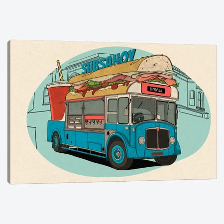 Subsahoy Canvas Print #FTS8} by 5by5collective Art Print