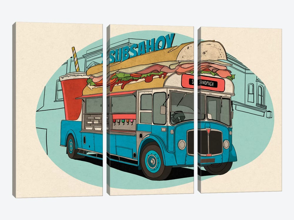 Subsahoy by 5by5collective 3-piece Canvas Artwork