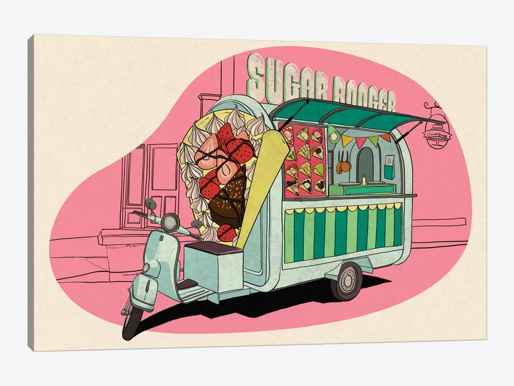 Sugar boogar by 5by5collective 1-piece Canvas Art Print