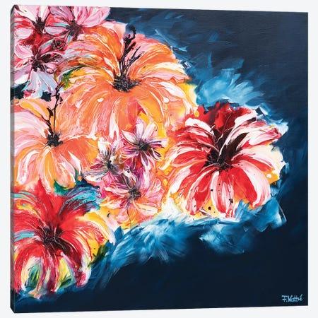 I Bring You Flowers Canvas Print #FWA13} by Françoise Wattré Art Print