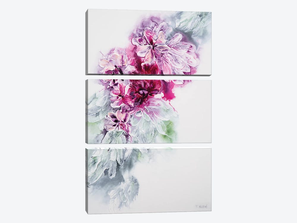 The Sweet Smell Of Happiness by Françoise Wattré 3-piece Canvas Artwork