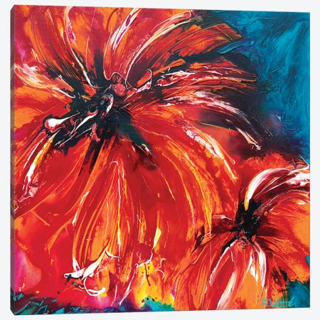 Tropical Sun Canvas Print #FWA29} by Françoise Wattré Canvas Wall Art