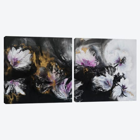 There Is Beauty In The Dark Diptych Canvas Print Set #FWA2HSET001} by Françoise Wattré Canvas Art