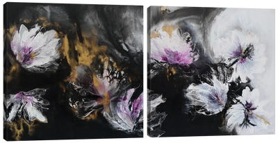 There Is Beauty In The Dark Diptych Canvas Art Print