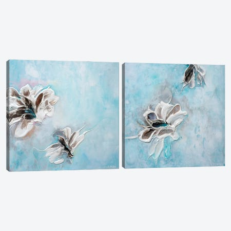 In The Turquoise Sea Diptych Canvas Print Set #FWA2HSET003} by Françoise Wattré Canvas Wall Art