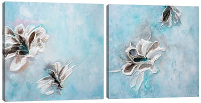 In The Turquoise Sea Diptych Canvas Art Print