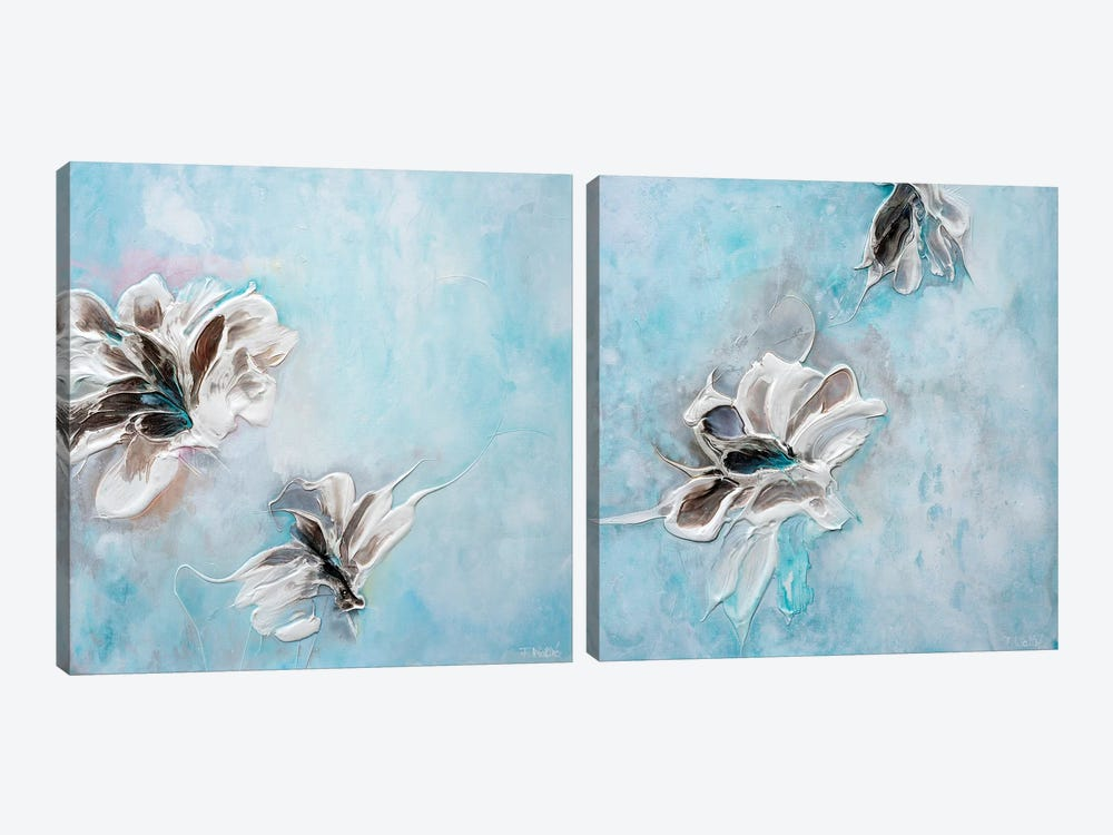 In The Turquoise Sea Diptych by Françoise Wattré 2-piece Canvas Art