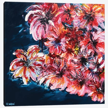 Wild Summer Canvas Print #FWA30} by Françoise Wattré Canvas Print