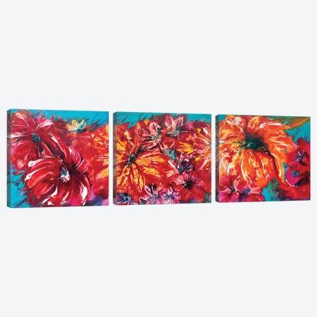 Tropical Garden Triptych Canvas Print Set #FWA3HSET002} by Françoise Wattré Canvas Art