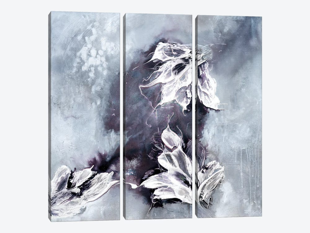 Fluffy Clouds On a Blustery Day by Françoise Wattré 3-piece Canvas Wall Art