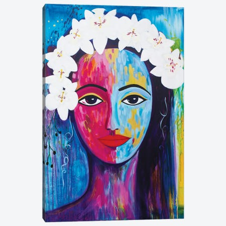 Beauty With Orchids Canvas Print #FWA68} by Françoise Wattré Canvas Wall Art