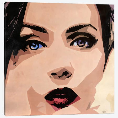 Blue Brown Eyed Girl Canvas Print #FWD14} by Francis Ward Canvas Art Print