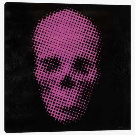 Pink Skull Canvas Print #FWD19} by Francis Ward Canvas Art