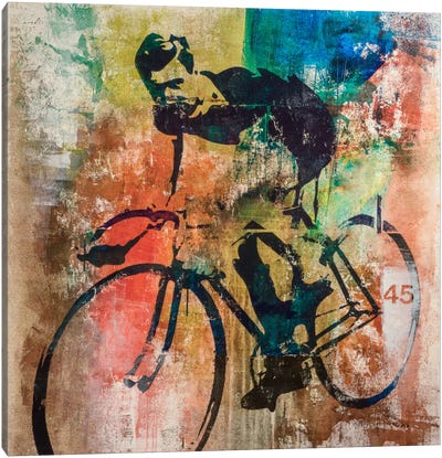 Bike Race Canvas Art Print