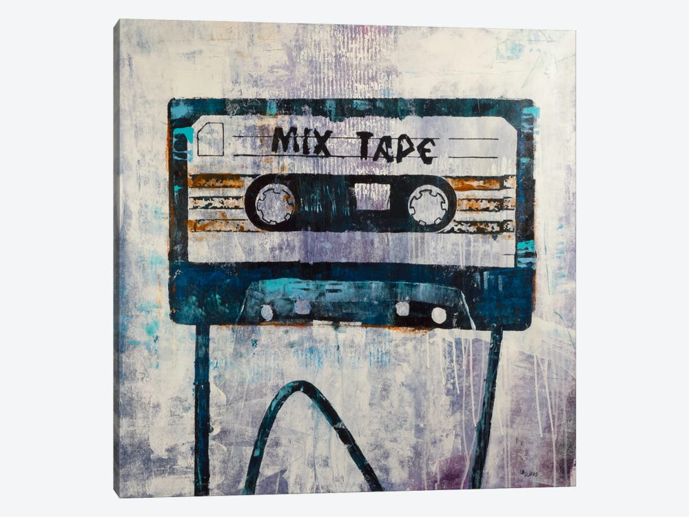 Mix Tape by Francis Ward 1-piece Canvas Art Print