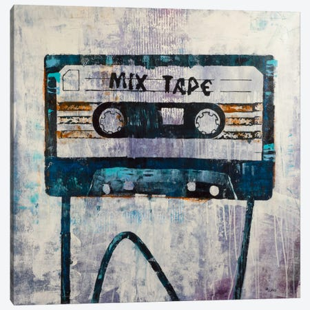 Mix Tape Canvas Print #FWD2} by Francis Ward Canvas Wall Art