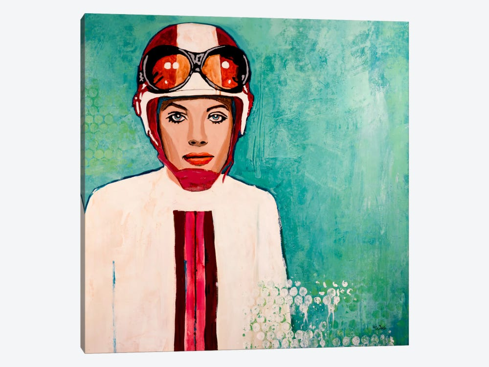 Scooter Girl by Francis Ward 1-piece Canvas Wall Art