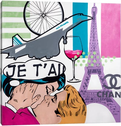 I Love Paris Canvas Print #FWD6
